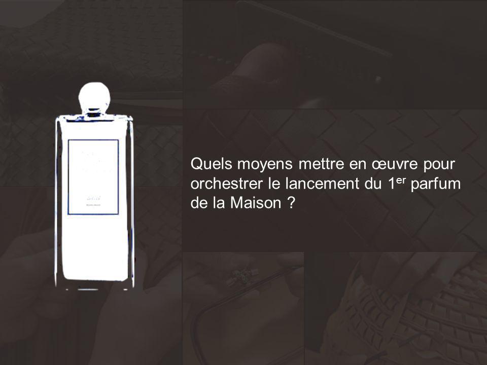 Quels moyens mettre en œuvre pour orchestrer le lancement du 1 er parfum de la Maison ?