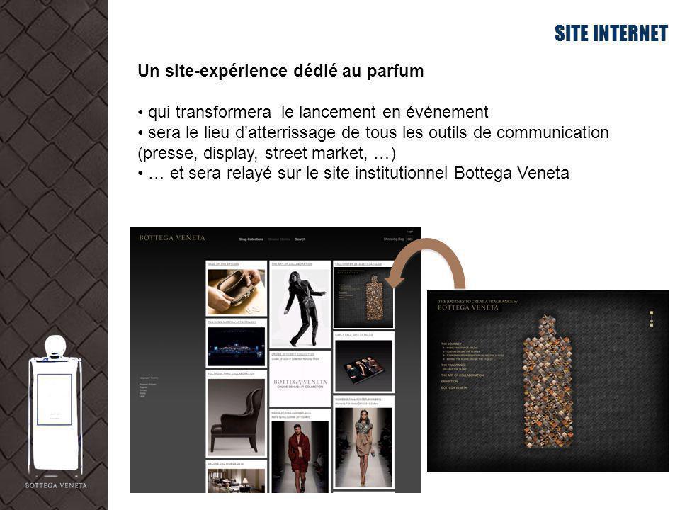 SITE INTERNET Un site-expérience dédié au parfum qui transformera le lancement en événement sera le lieu datterrissage de tous les outils de communica