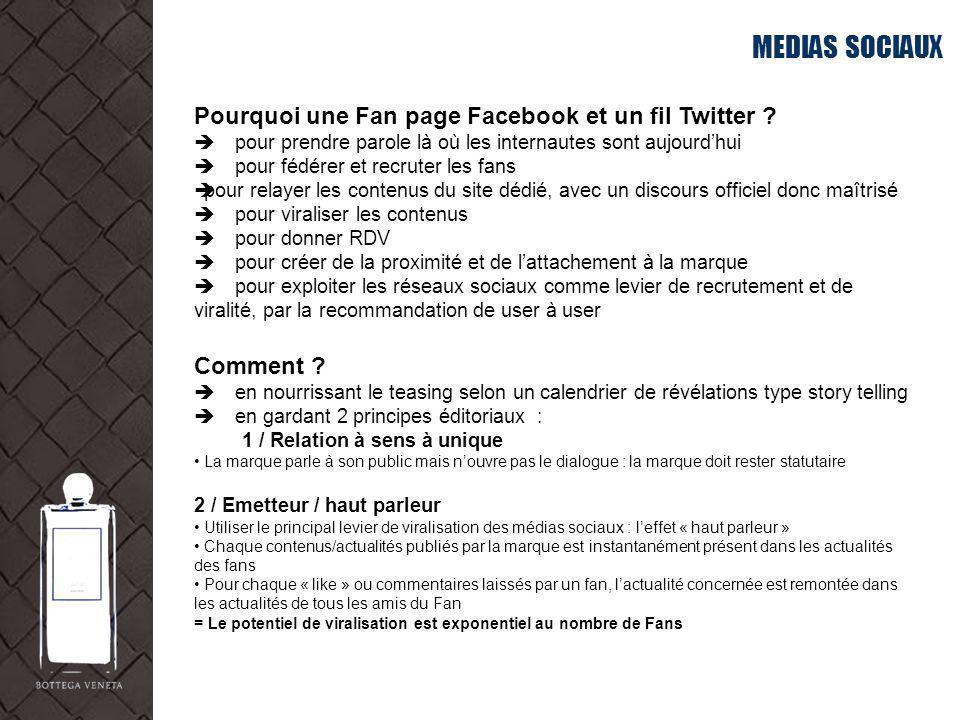 MEDIAS SOCIAUX Pourquoi une Fan page Facebook et un fil Twitter ? pour prendre parole là où les internautes sont aujourdhui pour fédérer et recruter l