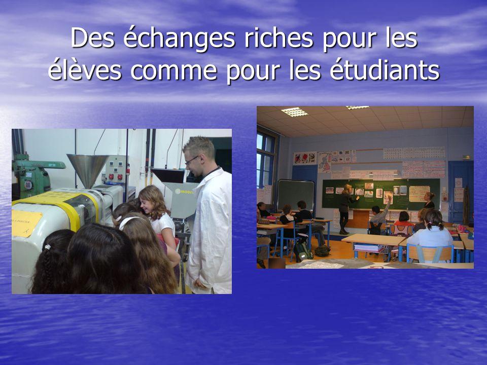 Des échanges riches pour les élèves comme pour les étudiants