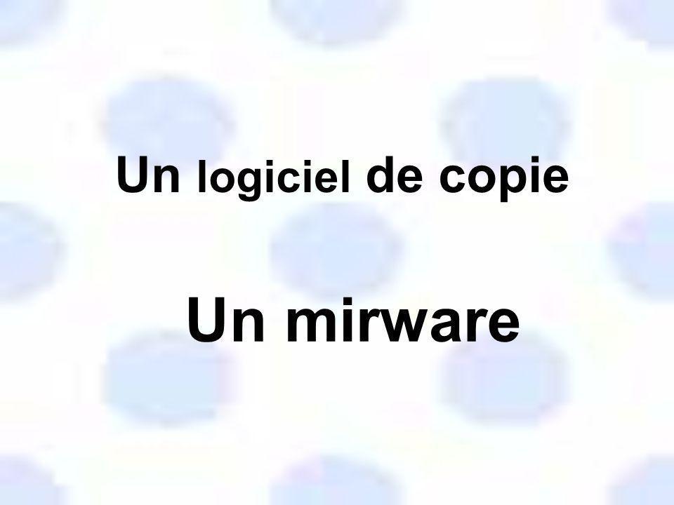 Un logiciel de copie Un mirware