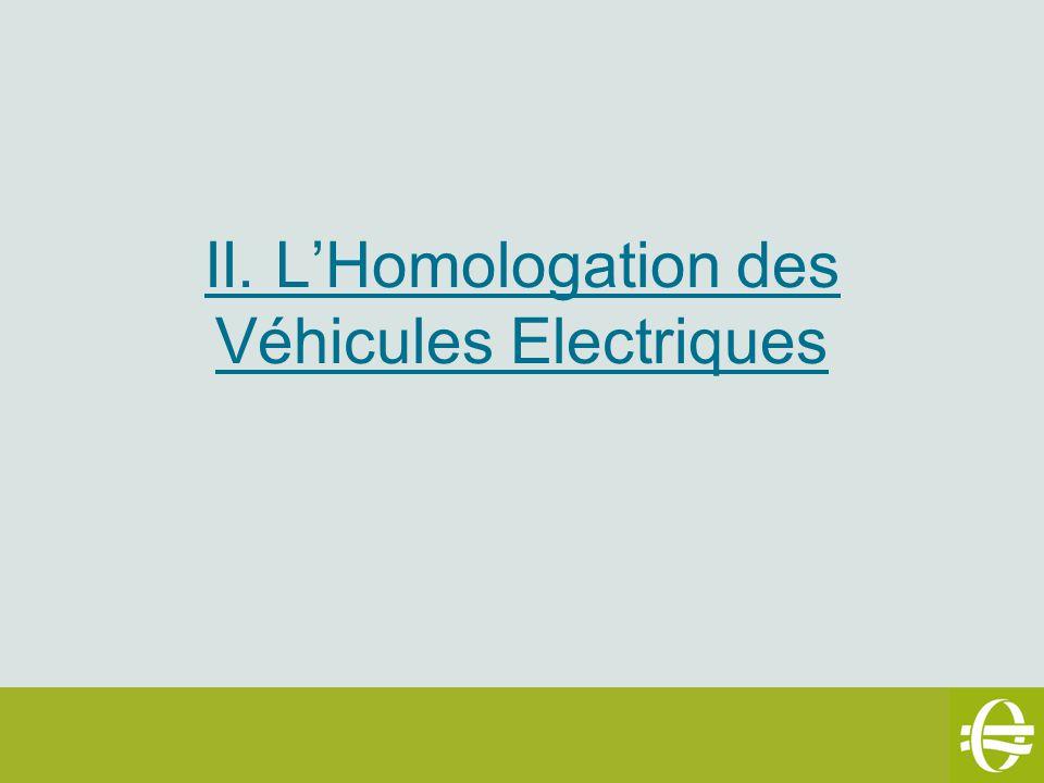 II. LHomologation des Véhicules Electriques