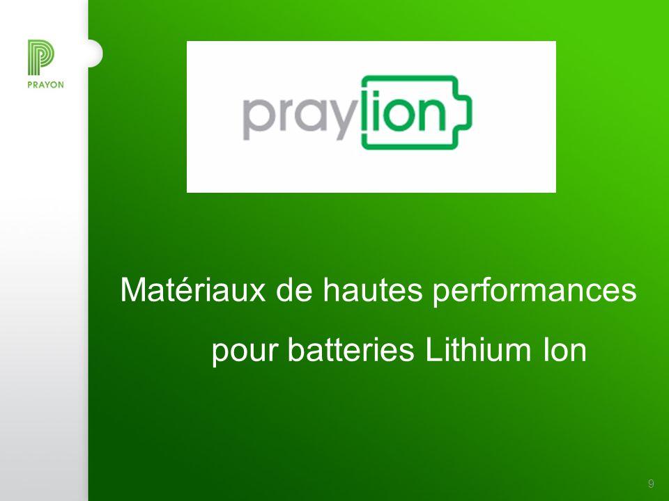 Stratégie de Prayon pour les batteries Li-Ion Devenir un producteur de masse à prix compétitif pour des produits de haute qualité et haute performance ( cathode & anode ) Basé sur des partenariats à long terme : Fournisseurs de matières premières (lithium, fer, titane,…) Centres de recherches (CEA,…) Clients