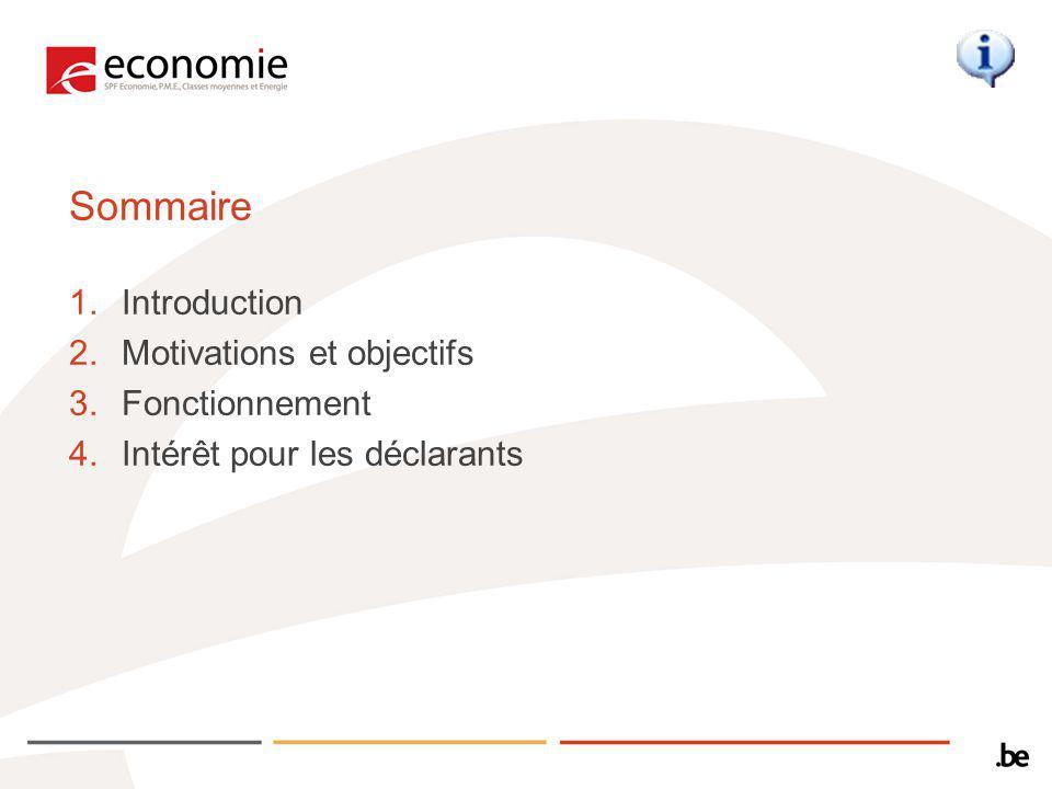 Sommaire 1.Introduction 2.Motivations et objectifs 3.Fonctionnement 4.Intérêt pour les déclarants