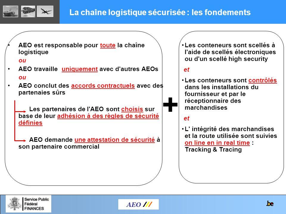AEO est responsable pour toute la chaîne logistique ou AEO travaille uniquement avec d'autres AEOs ou AEO conclut des accords contractuels avec des pa