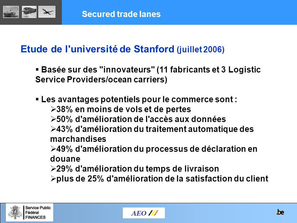 AEO /// Etude de l'université de Stanford (juillet 2006) Basée sur des