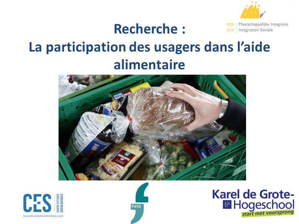 Recherche : La participation des usagers dans laide alimentaire