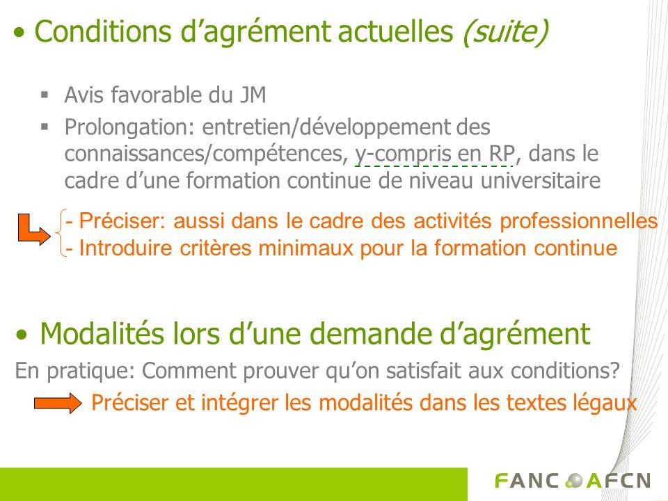 Avis favorable du JM Prolongation: entretien/développement des connaissances/compétences, y-compris en RP, dans le cadre dune formation continue de ni