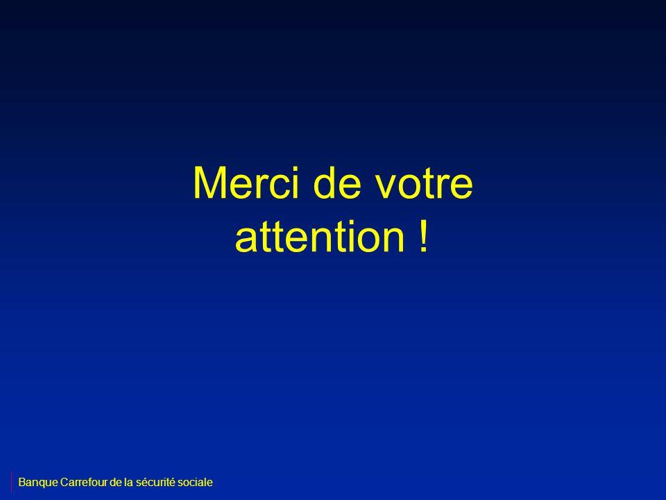 Merci de votre attention ! Banque Carrefour de la sécurité sociale