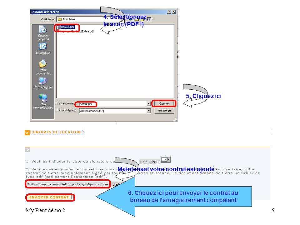 My Rent démo 25 4. Sélectionnez le scan (PDF !) 5.