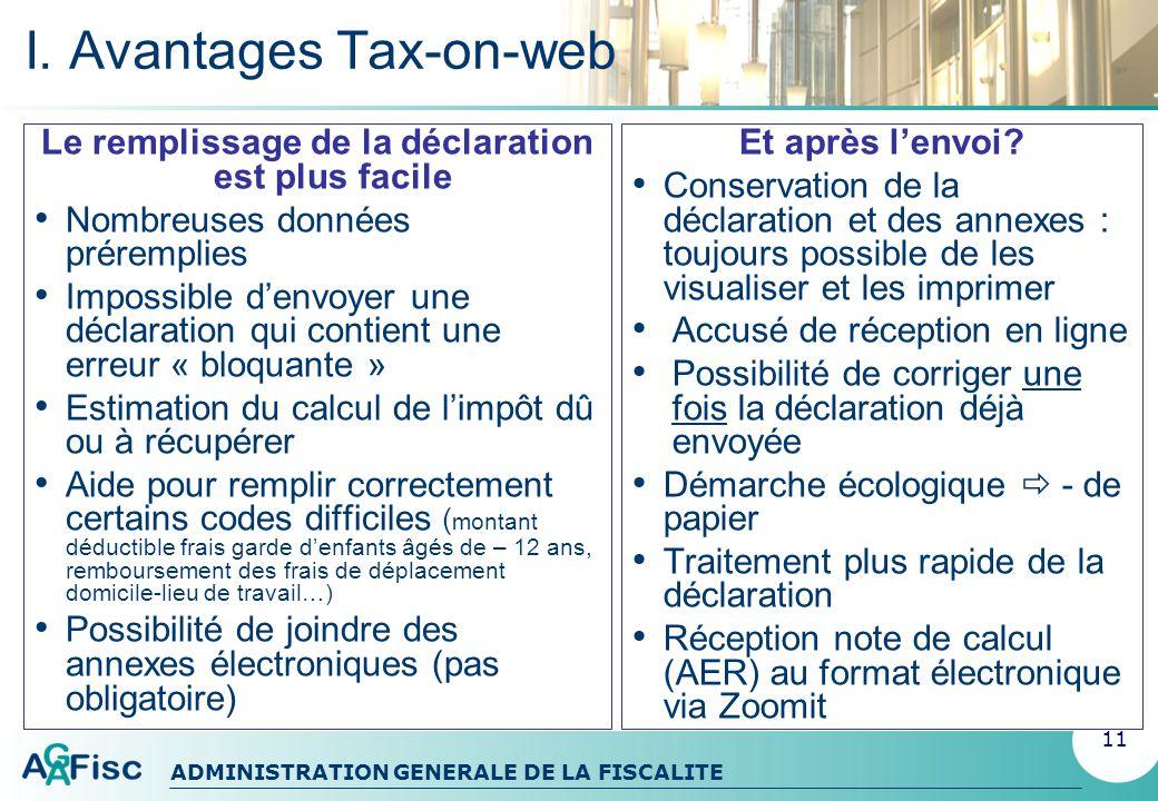 ADMINISTRATION GENERALE DE LA FISCALITE II.