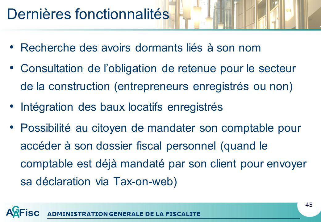 ADMINISTRATION GENERALE DE LA FISCALITE Page daccueil 46