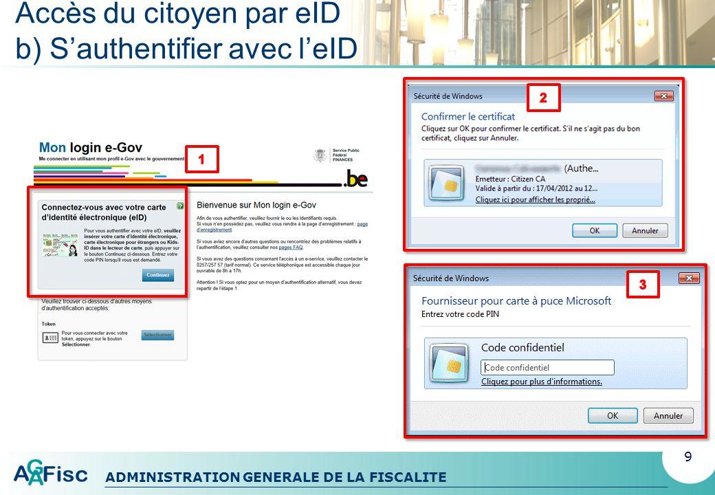 ADMINISTRATION GENERALE DE LA FISCALITE TAX-ON-WEB La déclaration électronique à limpôt des personnes physiques