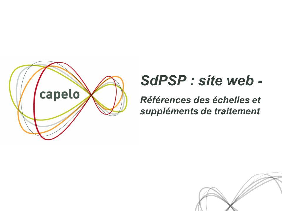 27 SdPSP : site web - Références des échelles et suppléments de traitement