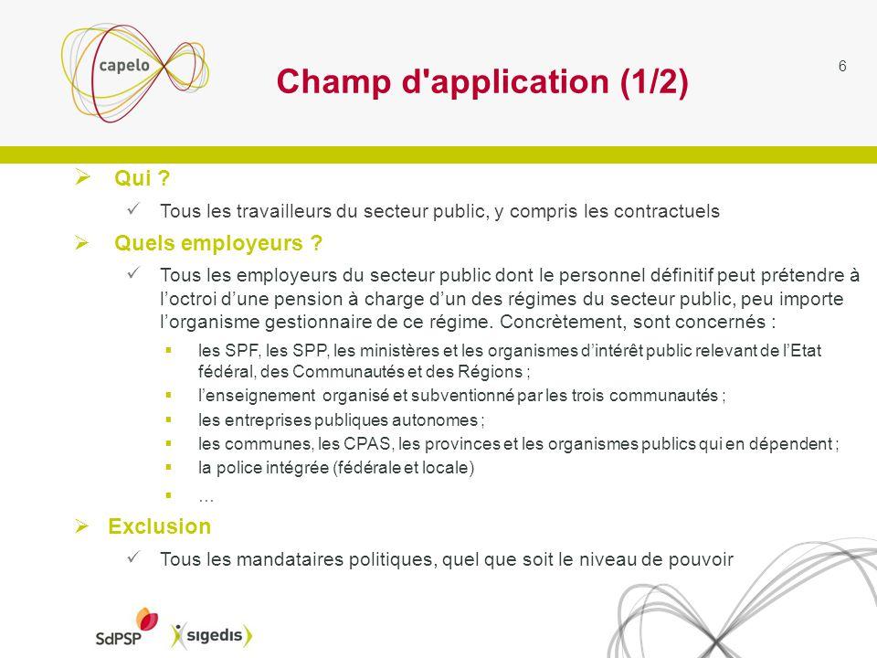 6 Champ d application (1/2) Qui .