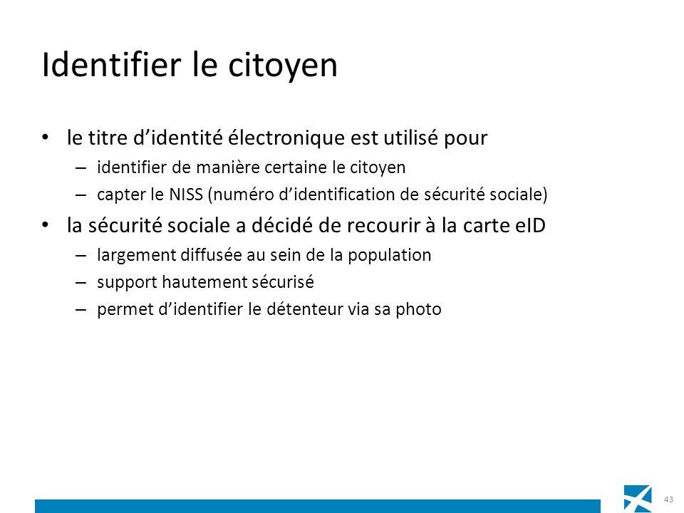 Identifier le citoyen le titre didentité électronique est utilisé pour – identifier de manière certaine le citoyen – capter le NISS (numéro didentific