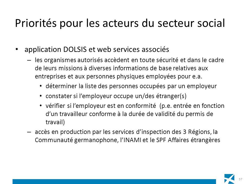 Priorités pour les acteurs du secteur social application DOLSIS et web services associés – les organismes autorisés accèdent en toute sécurité et dans
