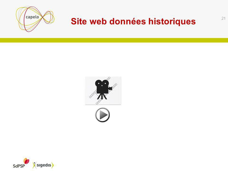 Site web données historiques 21
