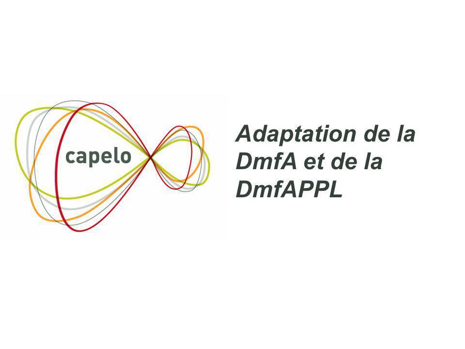 3 Adaptation de la DmfA et de la DmfAPPL