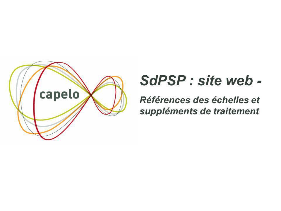 8 SdPSP : site web - Références des échelles et suppléments de traitement