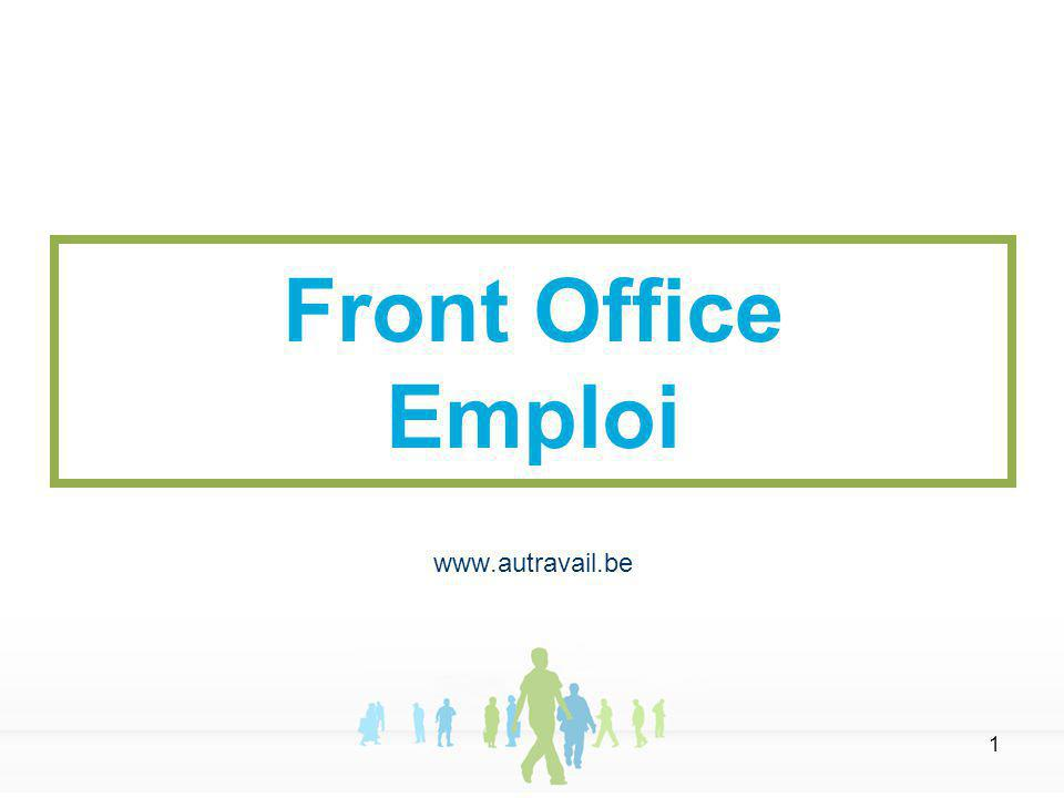 1 Front Office Emploi www.autravail.be