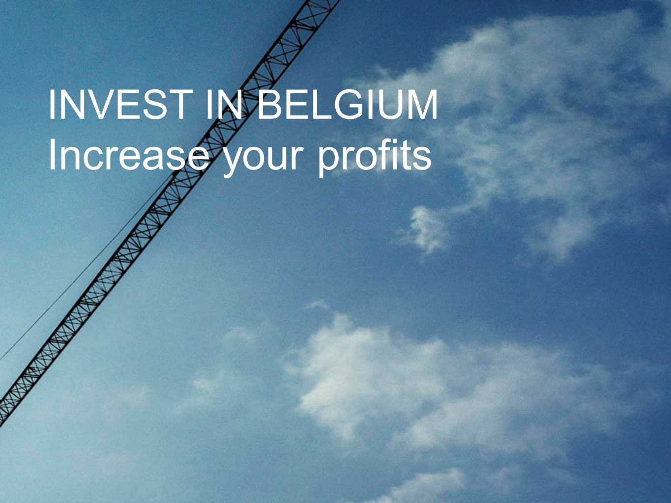 INVEST IN BELGIUM Increase your profits
