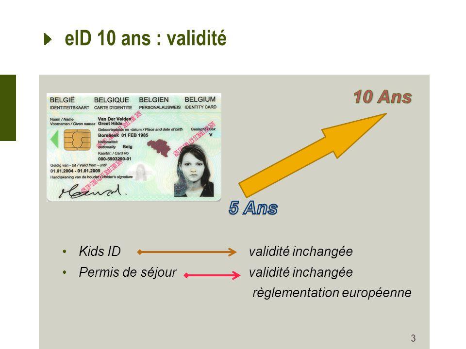 3 eID 10 ans : validité