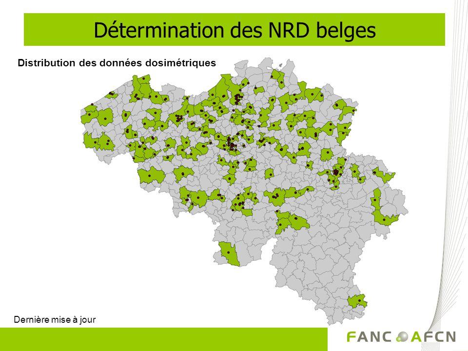 Distribution des données dosimétriques Dernière mise à jour