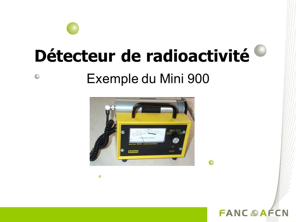 Exemple du Mini 900 Détecteur de radioactivité