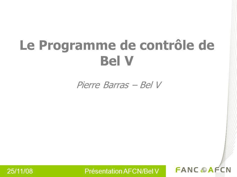 Le Programme de contrôle de Bel V Pierre Barras – Bel V