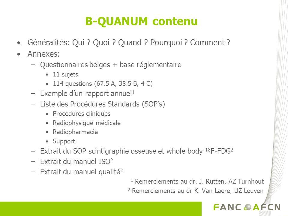 B-QUANUM contenu Généralités: Qui . Quoi . Quand .
