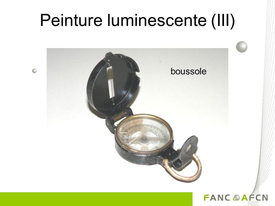 Peinture luminescente (III) boussole