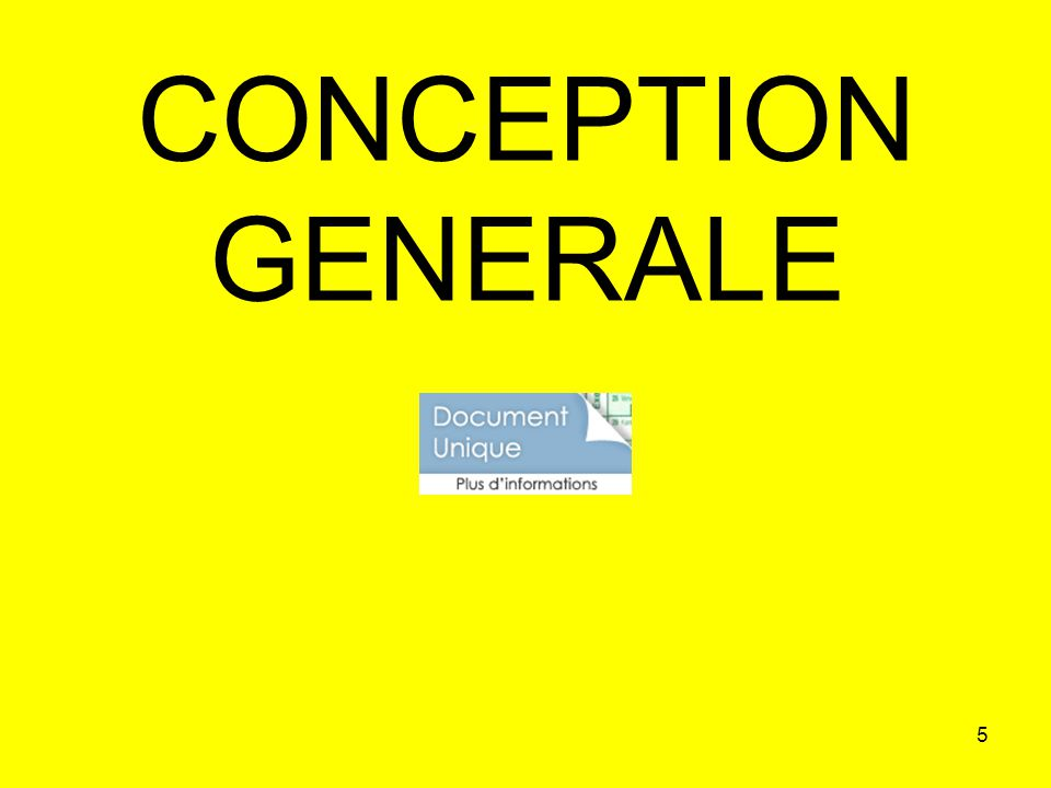 5 CONCEPTION GENERALE