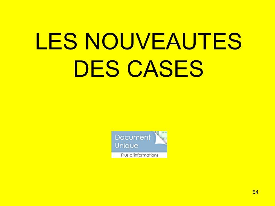 54 LES NOUVEAUTES DES CASES