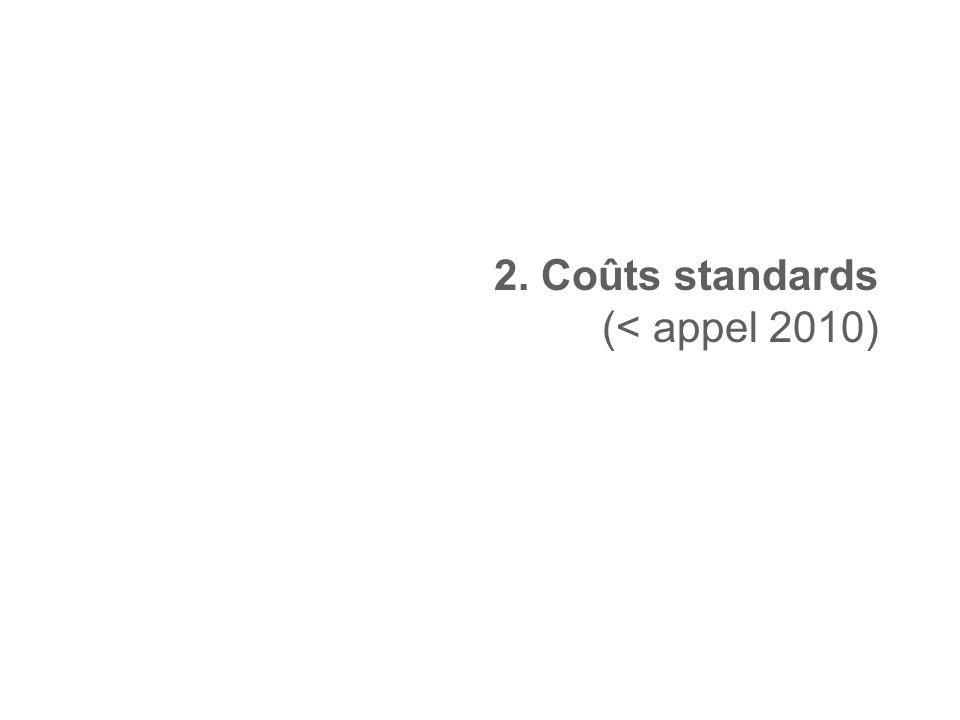 2. Coûts standards (< appel 2010)