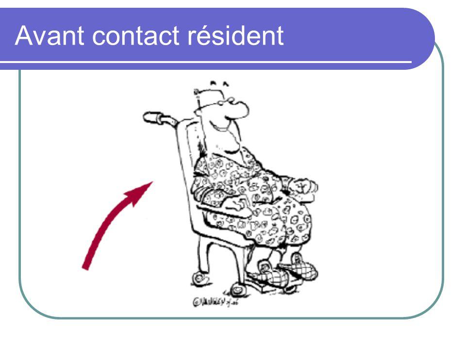 Avant contact résident