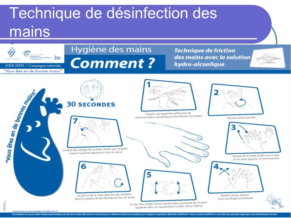 Technique de désinfection des mains