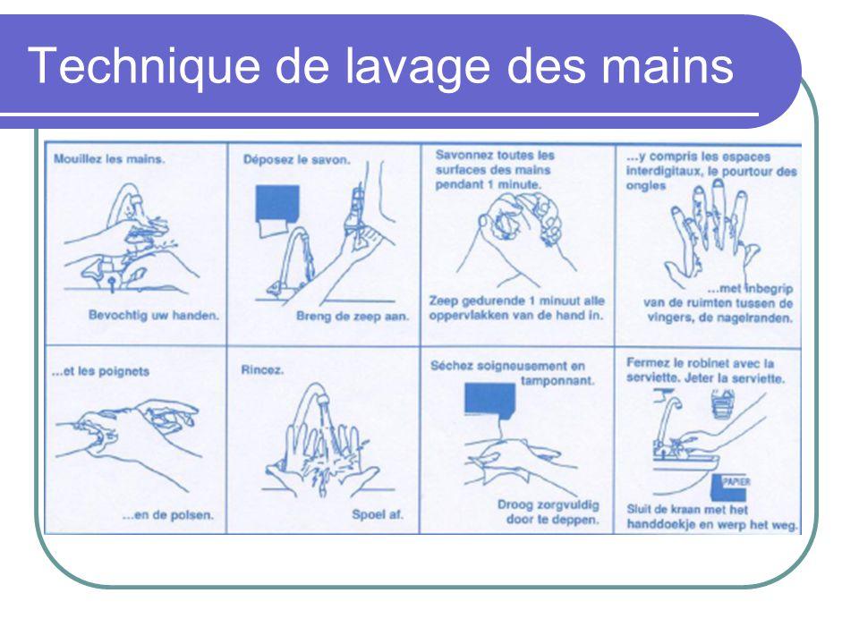Technique de lavage des mains