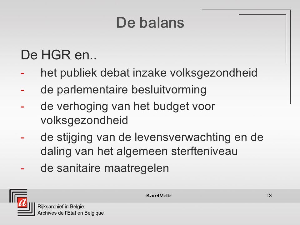 Karel Velle13 De balans De HGR en..
