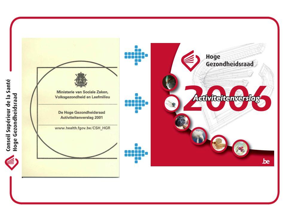 HGR - CSH 2006 - Werken met nieuwe structuren valideren van adviezen werken volgens meer uniforme methodes -Imago, communicatie, transparante werkwijze -Samenwerking op nationaal en internationaal vlak: SciCom FAVV, FANC, KCE, EuSAHN