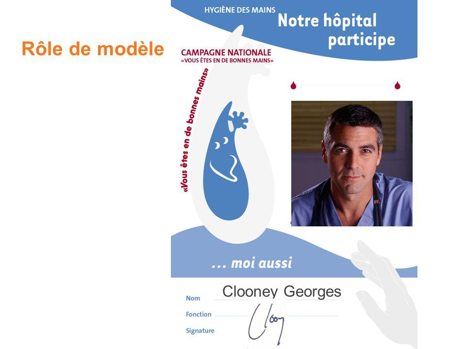 Rôle de modèle Clooney Georges