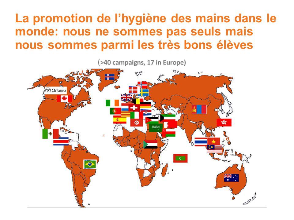 La promotion de lhygiène des mains dans le monde: nous ne sommes pas seuls mais nous sommes parmi les très bons élèves