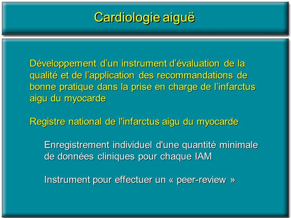 Développement dun instrument dévaluation de la qualité et de lapplication des recommandations de bonne pratique dans la prise en charge de linfarctus