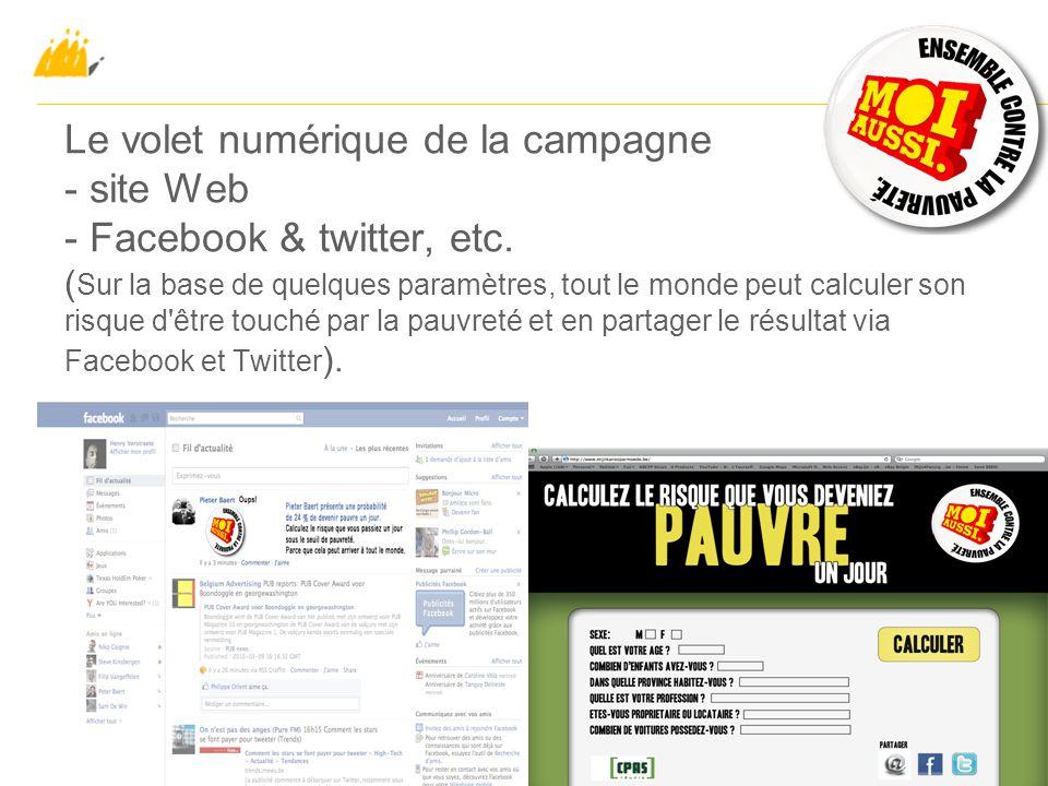 Le volet numérique de la campagne - site Web - Facebook & twitter, etc.
