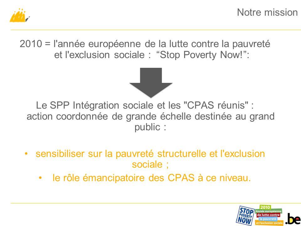 Un signal fort.Les CPAS se réunissent au niveau national.