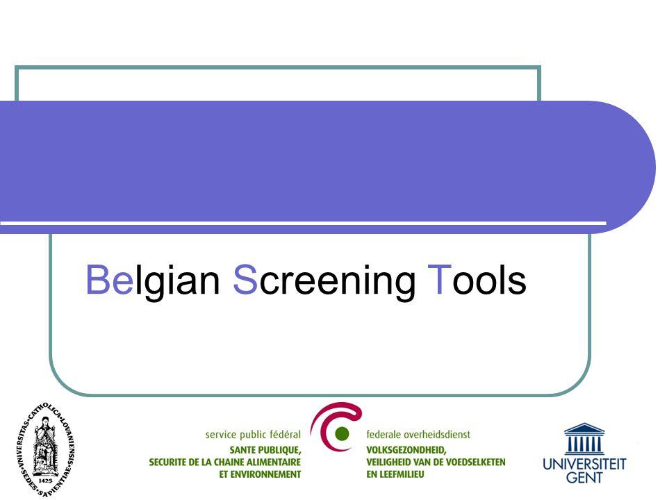 BEST Belgian Screening Tools