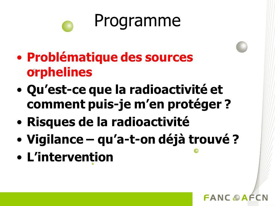 Directives de lAFCN Intervention après découverte dune source radioactive