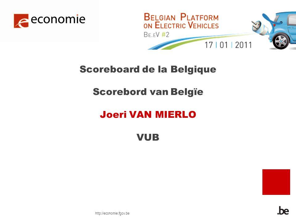 http://economie.fgov.be Scoreboard de la Belgique Scorebord van Belgïe Joeri VAN MIERLO VUB