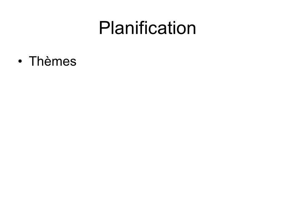 Planification Thèmes