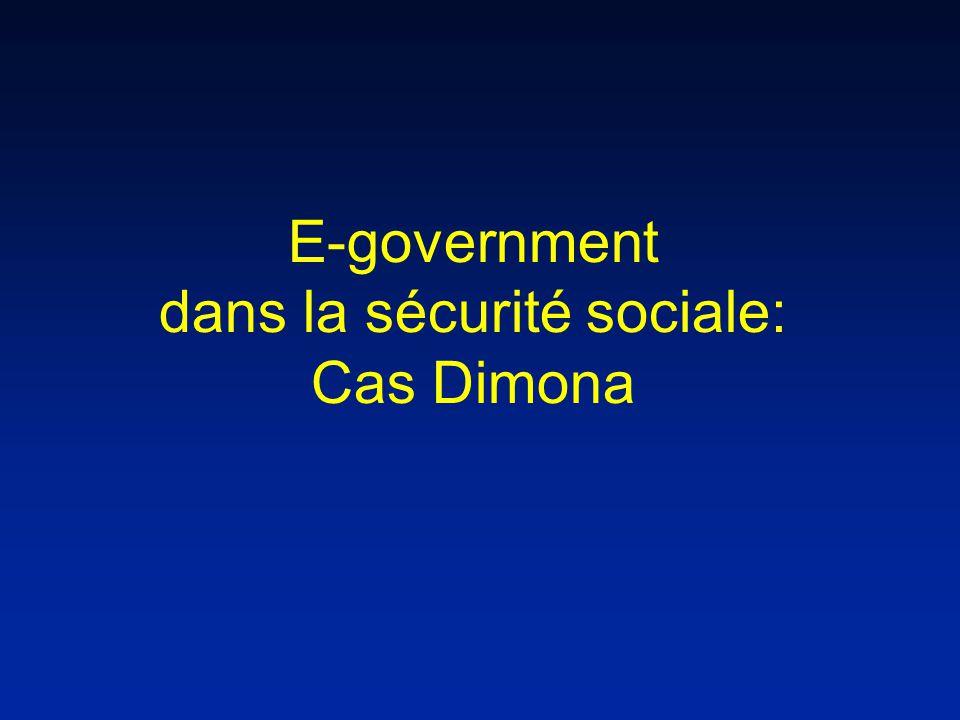 E-government dans la sécurité sociale: Cas Dimona
